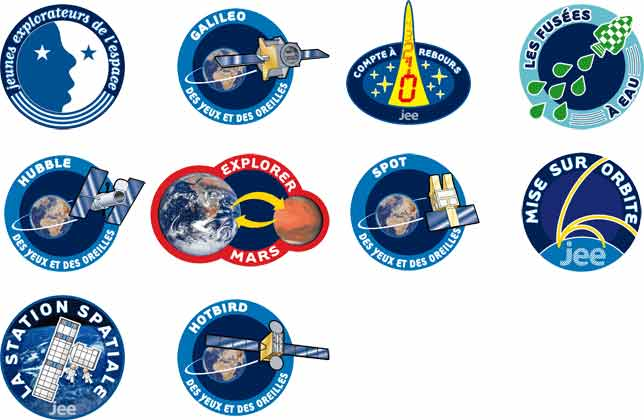 <em>Patches</em> de&nbsp;missions spatiales